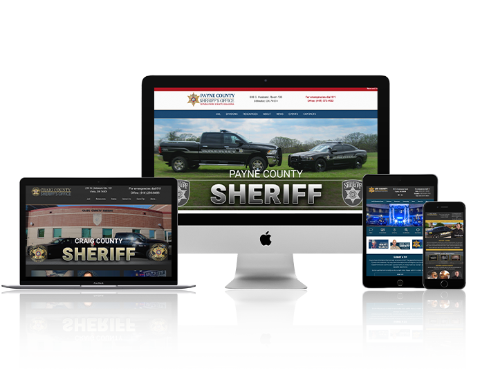 law enforcement website design