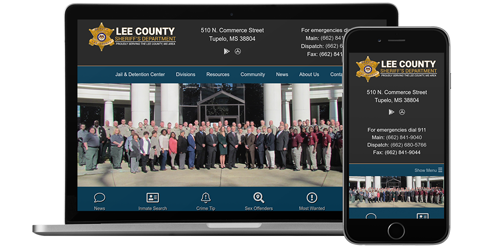 Sheriff's Office Website Preview